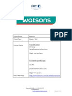 Watsons Shopper Guideline-Thailand