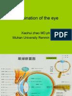 examination of eye
