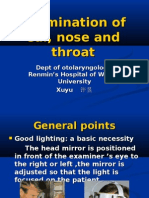 Examination of ear_ nose and__ throat