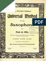 Universal Method for Saxophone by Paul de Ville