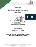 DISEÑO ESTRUCTURAL DE UN LOCAL COMERCIAL, UBICADO EN LOS MOCHIS, SINALOA
