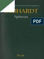 Spinoza - Carl Gebhardt