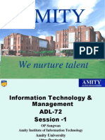 Amity_ITM ADL-72_Session_Powerpoint