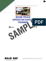 Boom Truck Instructors Notes
