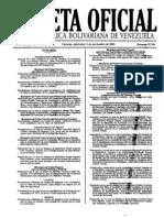 gaceta111109 MPP Obras Públicas y Vivienda Normas Técnicas Requisitos y Documentación Para Créditos Adquisición Vivienda Principal