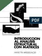 Kardestuncer Hayrettin Introduccion Al Analisis Estructural Con Matrices