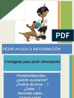 2. Pedir Ayuda o Informacion
