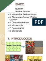 Metodos Para La Determinacion de La Distribucion de Tamaño de Particula
