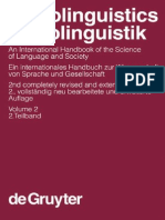 Sociolinguistics. an International Handbook of the Science of Language and Society de Gruyter