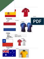 Paises Del Mundial Capital Bandera Camisola