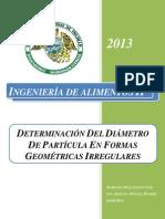 Ing II-Deter. Del Diám. de Part. en Formas Geométricas Irregulares