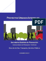 Proyectos Urbanos Integrales PUI Documento I 0