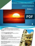 Primeras Comunidades Cristianas Tema 7