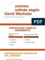 Conclusiones Diagnosticas Según David Wechsler