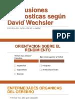 Conclusiones Diagnosticas Según David Wechsler