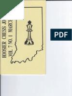 Hoosier Chess Journal Vol. 7, No. 1 Mar 1985