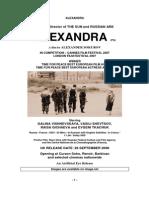 ALEXANDRA Pressbook