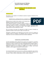 "Manual Para La Estimaciã""n de Reservas de Mineral"