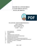 Syllabus Morfofisiologia 2012-10