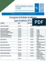 ActividadesAcademicas2014I unexpo