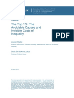 2012 Stiglitz the Avoidable Causes of Inequality
