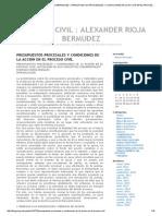 Presupuestos Procesales y Condiciones de La Acción en El Proceso Civil Procesal Civil _ Alexander Rioja Bermudez »