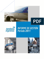 Informe 2011 Aerolineas Argentinas