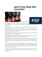 What Happens to Our Body After Drinking Coca