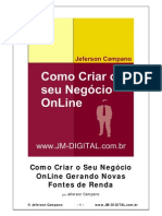 Como Criar o Seu Negocio Online