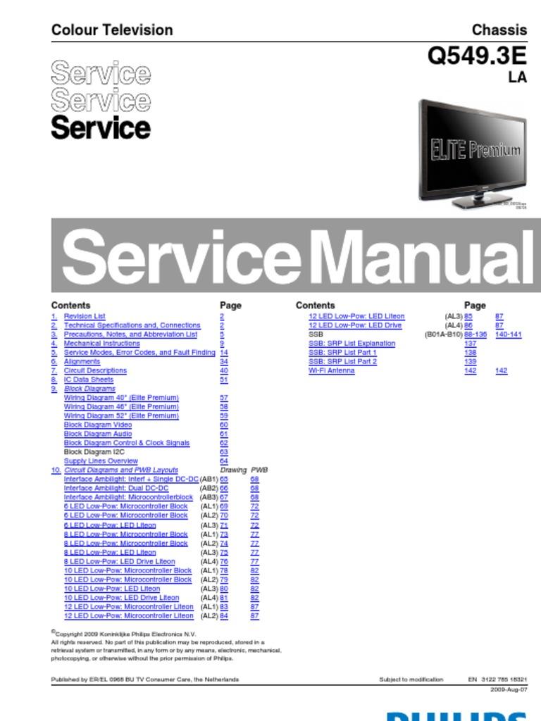 25826602 Philips Ch q549 3e La (Buenas Abreviaturas Muy Buenas) | Hdmi |  Computer Engineering