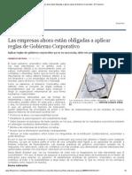 Las Empresas Ahora Están Obligadas a Aplicar Reglas de Gobierno Corporativo - El Financiero