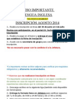 Aviso Inscripcion en Linea 2014