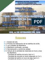 Albañileria-control de Calidad- Carlos Villegas