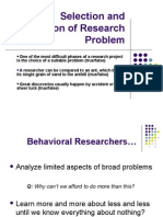 Selection and Formulation of Research Problem