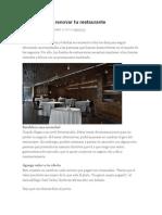 3 Formas Para Renovar Tu Restaurante