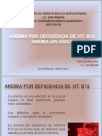 Anemias Po Deficit de Vit. B12 Y Aplasica