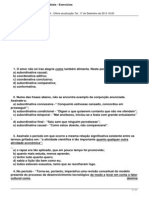 Oracoes Subordinadas Adverbiais Exercicios