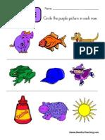 Circle Purple Worksheet