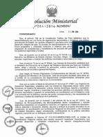 RM N° 264-2014-MINEDU