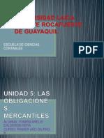 5.- Las Obligaciones Mercantiles