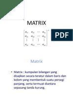 MATRIK XXXIII
