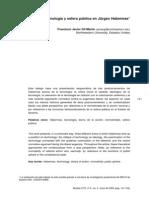 Tecnología y Esfera Pública en Jürgen Habermas