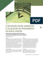 A Distinção Entre Jurisdição e Legislação No Pensamento de Klaus Gunter
