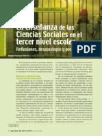 La Enseñanza de Las Ciencias Sociales en El Tercer Nivel Escolar