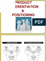 PRODUCT DIFFERENTIATION & Positioning