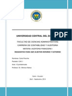 Requisitos Para Ser Auditor Interno y Externo. Carla Panchis