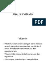Analisis Vitamin
