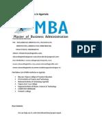 List of MBA Institutes in Agartala
