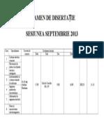 Planificare Disertatie Septembrie 2013