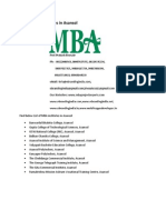 List of MBA Institutes in Asansol